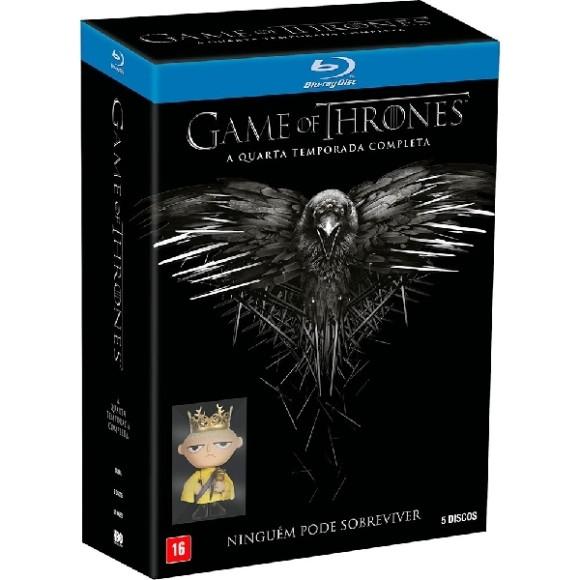 Blu-ray - Game of Thrones - A Quarta Temporada Completa - Ninguém Pode Sobreviver (5 Discos)