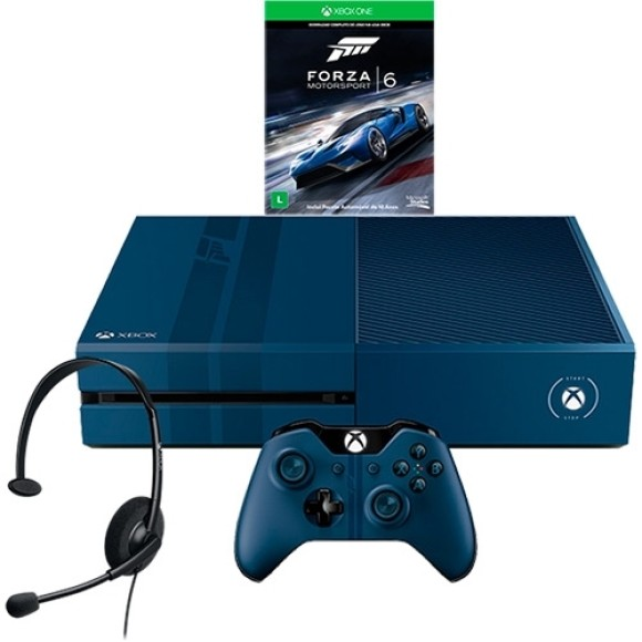Console Xbox One 1TB Edição Limitada + Game Forza 6 + Headset com Fio + Controle Wireless + Cabo HDMI